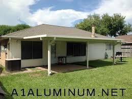 3 u2033 insulated aluminum patio cover in la porte also concrete patio