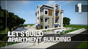 minecraft let u0027s build modern apartment building part 1 easy