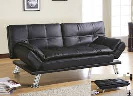 white leather futon sofa contemporary style living room with deena black bycast leather futon