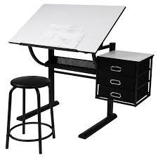 bureau table dessin miadomodo bureau table à dessin avec tabouret plateau inclinable