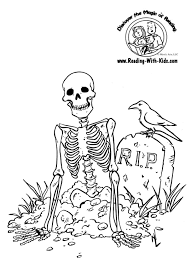 Free Printable Halloween Decorations Kids Halloween Skeleton Coloring Page Halloween Skeletons Pinterest