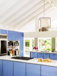 kitchen design show kitchen inspiration cabinets colors painted glossy blue cube