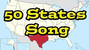 United States 50 States Map by The 50 States Song All 50 Of The United States Youtube