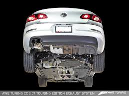 awe tuning vw cc 2 0t touring edition exhaust system awe tuning