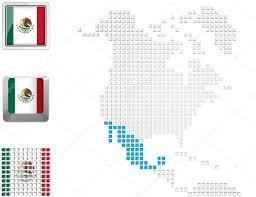 Mexico On Map Kuzey Amerika Haritası Meksika U2014 Stok Foto Kerdazz7 45118147