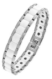 white ceramic bracelet images Buy the jewelbox white ceramic silver plated 316l surgical jpg