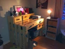 Table En Caisse En Bois Bureau En Palette De Bois U2013 Mzaol Com