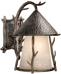 Exterior Wall Sconce Vaxcel Wd Owd110aa Woodland Rustic Autumn Patina Finish 15 5
