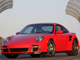 porsche 911 front view 2007 red porsche 911 turbo wallpapers