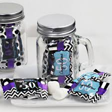 50th birthday favors mint candy favors with jar 50th birthday design birthday