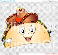 cartoon sombrero clipart happy taco mascot holding a thumb up and wearing a