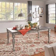 Grey Extendable Dining Table Eleanor Grey Two Tone Wood Butterfly Leaf Extending Dining Table