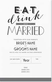 Eat Drink And Be Married Invitations Best 25 Vistaprint Invitations Ideas On Pinterest Wedding