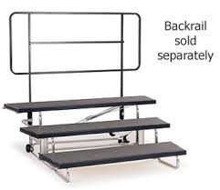 Choir Stands Benches All Transfold Portable Choral Risers By Midwest Options Stages