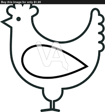 simple cartoon rooster clipart
