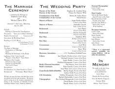 wedding bulletins exles pin by laree on wedding wedding program sles