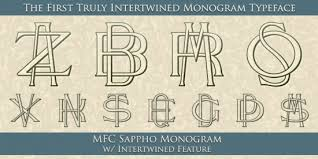 initial fonts for monogram initial monogram maker wally designs
