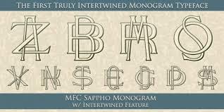 initial fonts for monogram initial monogram maker wally designs