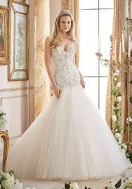 tulle wedding dresses crystallized embroidery on tulle wedding gown style 2874 morilee