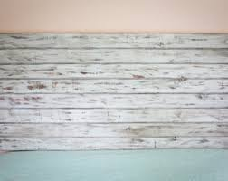 Distressed Wood Headboard Wood Stained Headboard Floating King Sized Distressed Bed
