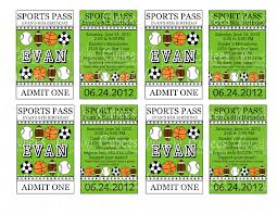 sport ticket template general liability release free incident