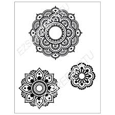ready to use diy screen printing stencil mandala mehndi henna design