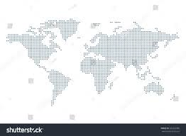 World Cloud Cover Map by Dotted Political World Map Template Grey Stock Vector 526362586