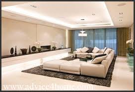 Living Room On Living Room With Ceiling Design Cream Wall And - Simple modern living room design