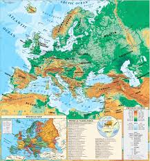 Europe Mountains Map by Physical Map Countries