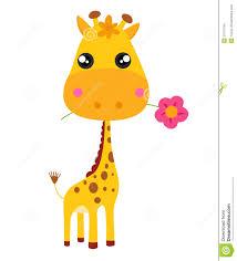 imagenes de jirafas bebes animadas para colorear jirafa y flor del bebé ilustración del vector ilustración de