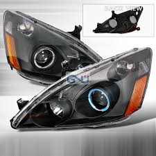2004 honda accord headlights honda accord 2003 2007 black halo projector headlights honda