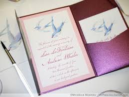 bird wedding invitations birds watercolor wedding invitations mospens studio custom