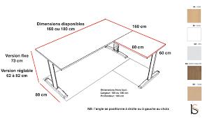 profondeur bureau bureau d angle pieds i practika p5 quadrifoglio bureaux opératif