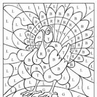 Thanksgiving Color By Number Thanksgiving Coloring Sheets With Math Bootsforcheaper Com