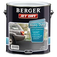 berger jet dry 4l heavy duty deep charcoal paving paint bunnings