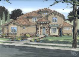 Tuscan Farmhouse Plans by Luxury Mediterranean Home With 4 Bedrooms 3446 Sq Ft Floor