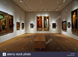 exhibition space with replicas of famous paintings by albrecht