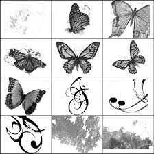 butterflies swirls and brush photoshop brushes in photoshop