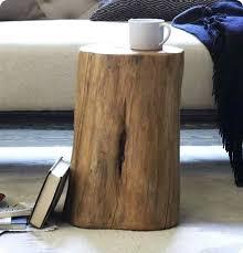 tree stump accent table tree stump side table image titled make a tree stump coffee table