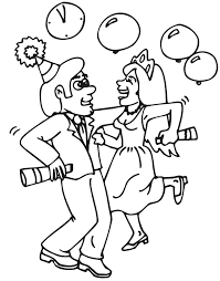 coloring pages of people printable new years coloring page dancing at party