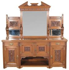 Servers Buffets Sideboards Antique English 7ft Solid Oak Victorian Buffet Sideboard Server W