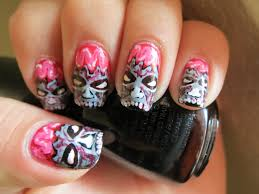 easy halloween nail art stepbystep youtube halloween nail art and