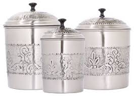 silver kitchen canisters 3 canister set traditional kitchen canisters and