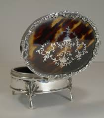 sterling silver keepsake box superb antique sterling silver and tortoise shell