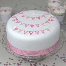 cake ideas for girl christening cake bunting decoration kit cake decorating