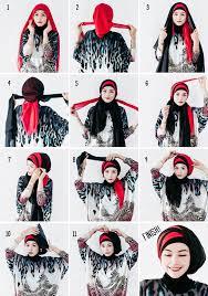 tutorial jilbab dua jilbab pin by najwa khaira wilda on tutorial hijab pinterest