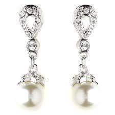 wedding earrings drop stunning silver ivory drop pearl wedding earrings bridal
