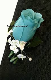 blue boutonniere aqua blue pool blue boutonniere wedding prom