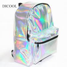 holographic bags 2018 mochila masculina backpack women silver hologram backpack big
