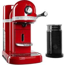 kitchen aid kitchenaid nespresso 5 cup espresso machine and milk frother